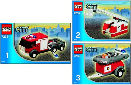 BrickLink - Set 7239-1 : Lego Fire Truck [Town:City:Fire