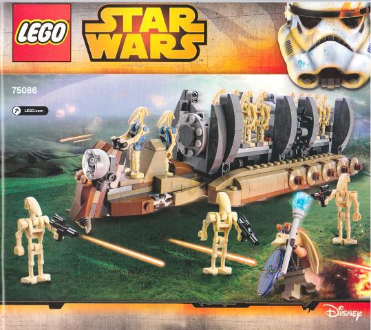 BrickLink - Set 75086-1 : Lego Battle Droid Troop Carrier