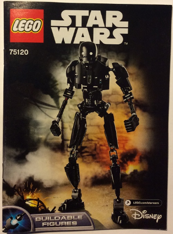 Novo E Lacrado Lego 75120-Buildable Bonecos Star Wars-K-2SO