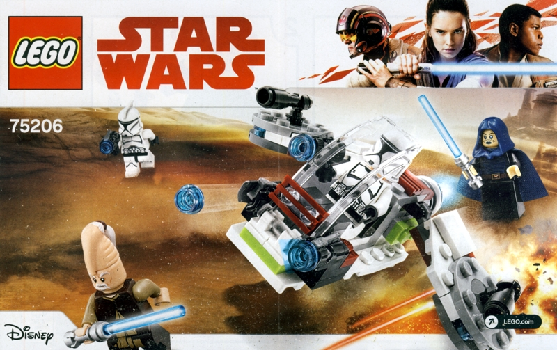 STAR WARS JEDI AND CLONE TROOPERS BATTLE PACK LEGO 75206 NEW IN DAMAGED BO