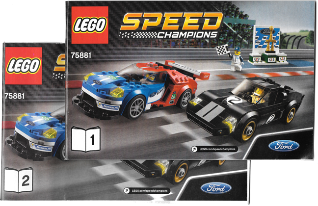 BrickLink - Set 75881-1 : Lego 2016 Ford GT & 1966 Ford GT40 [Speed ...