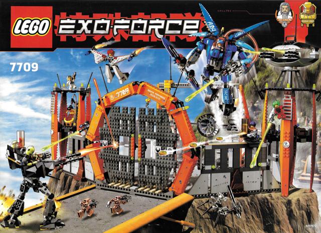 STICKER SHEET LEGO 7709 Exo-Force Sentai Fortress