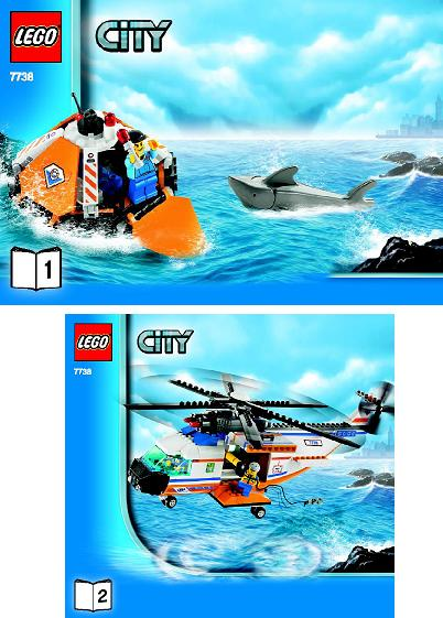 Bricklink Set 7738 1 Lego Coast Guard Helicopter And Life Raft