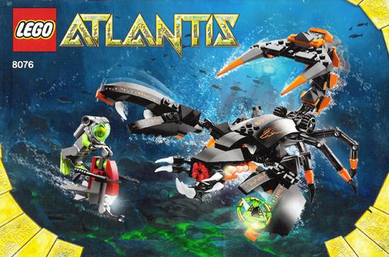 BrickLink - Set 8076-1 : Lego Deep Sea Striker [Atlantis] - BrickLink  Reference Catalog