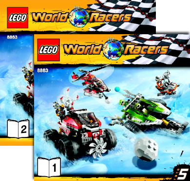 BrickLink - Set 8863-1 : Lego Blizzard's Peak [World Racers ...