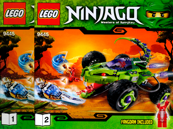 STICKER SHEET LEGO 9445 Fangpyre Truck Ambush NINJAGO