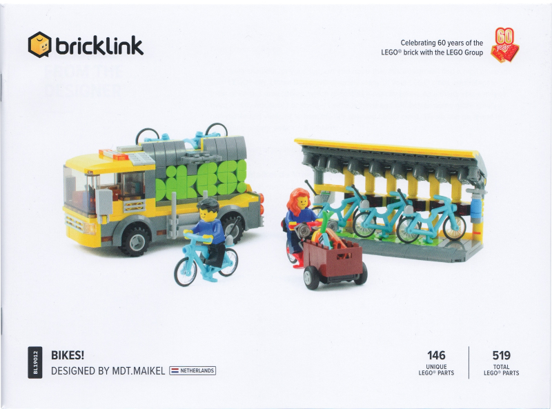 "LEGO-BrickLink AFOL Designer Program Set /""Bikes!/""/_Brand New!"