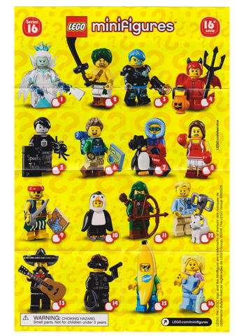 col16-16 NEW LEGO Babysitter Series 16 FROM SET 71013 COLLECTIBLES