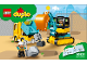Instruction No: 10931  Name: Truck & Tracked Excavator