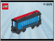 Instruction No: 4186876  Name: Passenger Wagon Blue (White Box)
