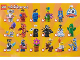 Instruction No: 6213825  Name: Minifigure, Series 18 (Box of 60)