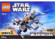 Instruction No: 75125  Name: Resistance X-Wing Fighter