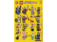 Instruction No: col12  Name: Swashbuckler, Series 12 (Complete Set with Stand and Accessories)