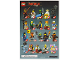 Instruction No: coltlnm  Name: Zane, The LEGO Ninjago Movie (Complete Set with Stand and Accessories)