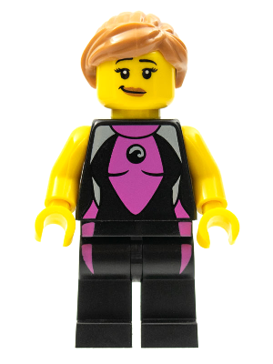 X 1 TORSO FOR THE SURFER GIRL FROM  SERIES 4 4 LEGO-MINIFIGURES SERIES