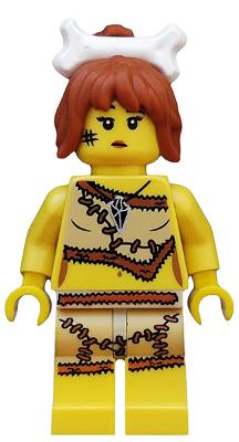 Cave Woman Series 5 Club Bone in Hair Female Girl Lego Minifigure Mini Figure