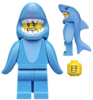 LEGO Collectable Mini Figure Series 15 Shark Suit Guy 71011-13 COL240 RBB