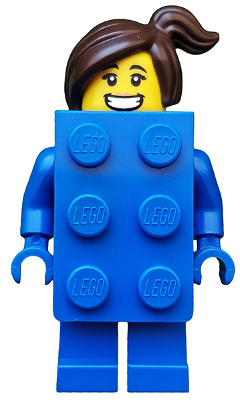 Check Sheet LEGO Party Series 18 Minifigure Blue Brick Suit Girl #3 New Packet