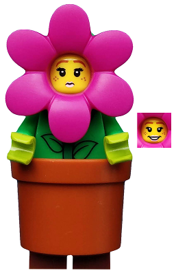 Bricklink Minifig Col325 Lego Flower Pot Girl Collectible