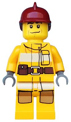 Lego figure bright light orange chicken 28586pb02