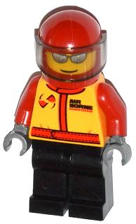Lego Minifigures Fire City Pilot Male Carabiner 30019 cty0323