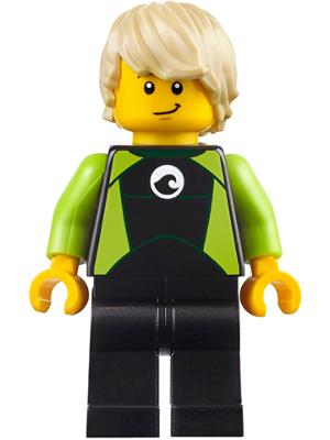 Lego Frau mit Schwimmweste Surferin Strandgängerin Minifigur City cty0758 Neu