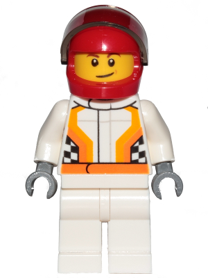 Lego Classic Driver Minifigure with Helmet Smiling New