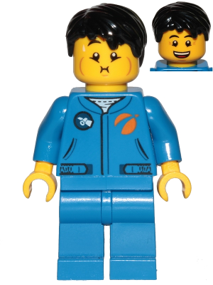 Lego mini figure 1 Black Hair Tousled with Side Part NEW