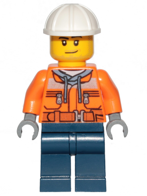 Construction Worker Chest Pocket Zippers cty0534 Lego Minifigures