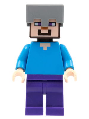 LEGO Minecraft Minifigure Figurine MIN016 Steve With Helmet Hache Axe NEUF NEW