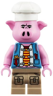mk011 New lego pigsy-blue vest from set 80010 monkie kid