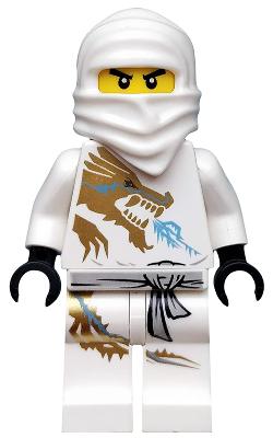 LEGO Zane DX Golden Minifigure Ninjago Mini Figure Dragon eXtreme Suit