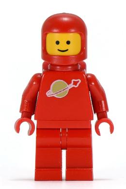 AIRTANKS LEGO VINTAGE ASRONAUT MINIFIGURE RED SPACE MAN CLASSIC FIGURE
