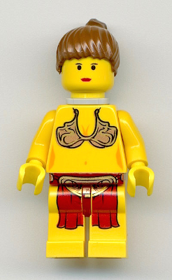 LEGO Star Wars PRINCESS LEIA Minifigure Jabba/'s Slave With Bikini