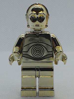 Bricklink Minifig Sw0158 Lego C 3po Chrome Gold Sw 30th Anniversary Edition Star Wars Star Wars Episode 4 5 6 Bricklink Reference Catalog