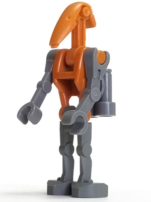 Authentic Battle Droid STAR WARS LEGO Minifigure w// Gun /& One Straight Arm
