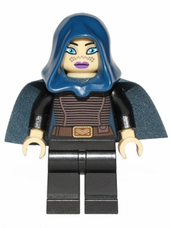 Black Cape and Hood Minifigure LEGO Star Wars Barriss Offee
