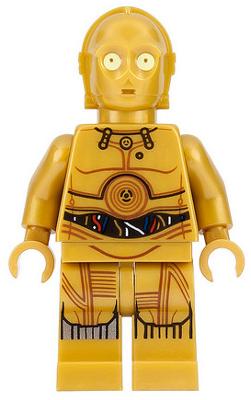 Santa C-3PO sw680 sw0680 LEGO Star Wars minifig personnage figurine