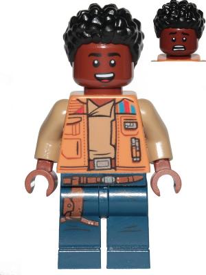 LEGO Star Wars Finn Medium Nougat Jacket and Dark Blue Legs minifigure