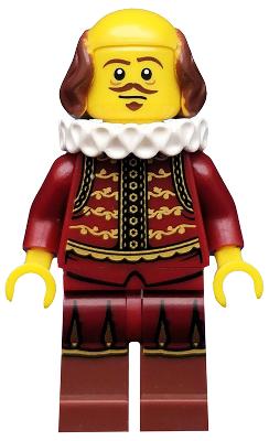 Used - Complete - TLM008 The Lego Movie William Shakespeare Minifigure 71004