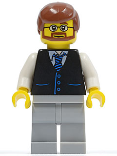 NEW Lego Minifig Light Bluish GRAY BEARD Face Hair