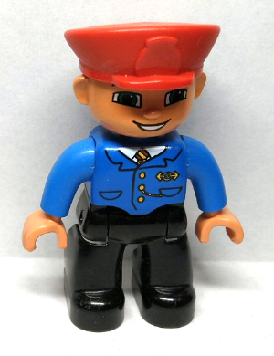 Duplo minifigure combined shipping male zookeeper with dark hair and uniform