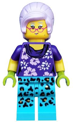 Figurka LEGO Babička zahradnice zepředu