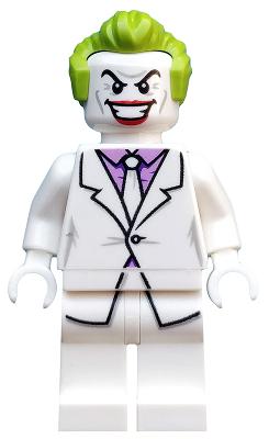 Figurka LEGO Joker v bílém obleku zepředu