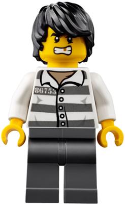 Lego 5 New Police Jail Prisoner Shirt Prison Stripes Minifigures Men People