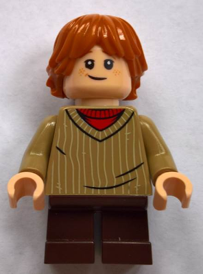 Ron Weasley Black Cape with Stars Minifigure Lego Blue Sweater hp034