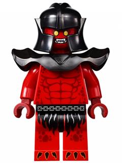 Figurka LEGO Crust Smasher s brněním zepředu