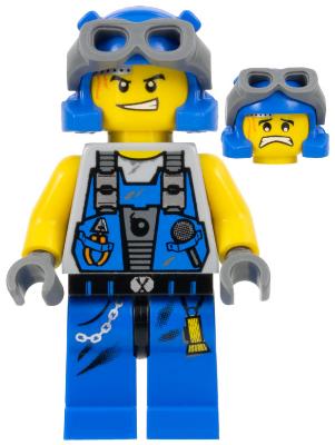 LEGO 2 x Figur Minifig pm031 Power Miner Duke