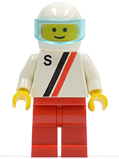 LEGO White Space Minifig Helmet with Red Visor