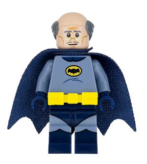 LEGO DC Super Heroes sh318 Batman Minifigure w Black Hood /& Cape